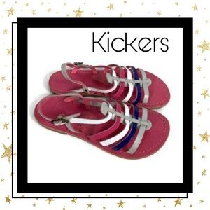 New! Kickers Girl's Leather Designer Sandals 3